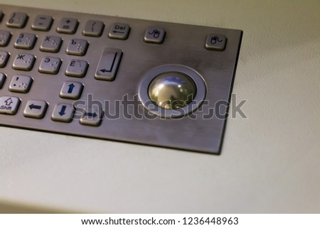 metal keypad with buttons #1236448963