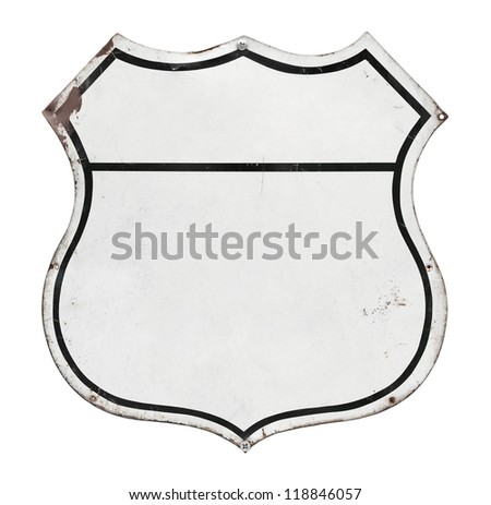 Metal Labels. Isolated on white.
