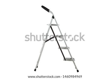 metal ladder ladder on white background #1460984969