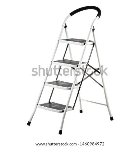 metal ladder ladder on white background #1460984972