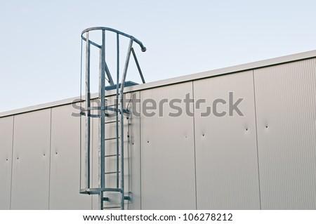 Metal Ladder on industrial roof