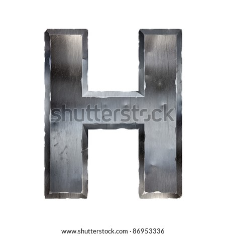 Metal letter isolated on white