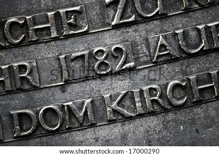 Metal letters - abstract  background