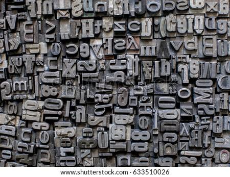 metal letters background Сток-фото ©