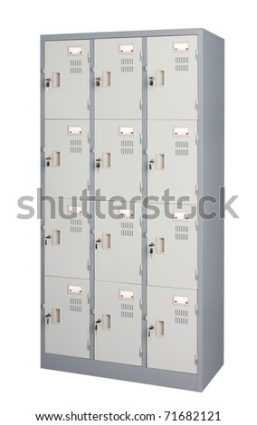 Metal locker in grey color use in the gyms room office or others utility