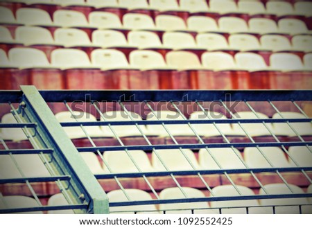 metal mesh in the stadium to...