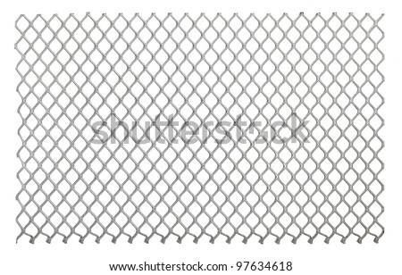 Metal net isolated on a white background