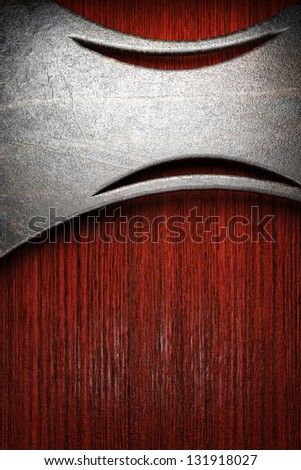 metal on wall