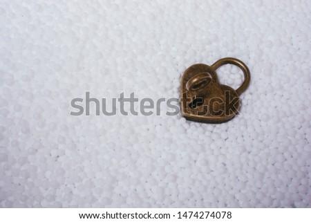 Metal padlock in heart shape as  symbol of love #1474274078