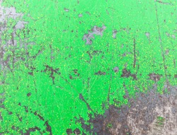 metal painted green paint