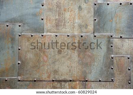 metal panel door - stock photo