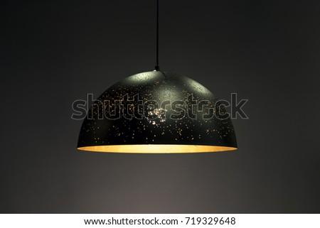 Metal Pendant light lamp illuminated, Elegant Chandelier illuminated #719329648