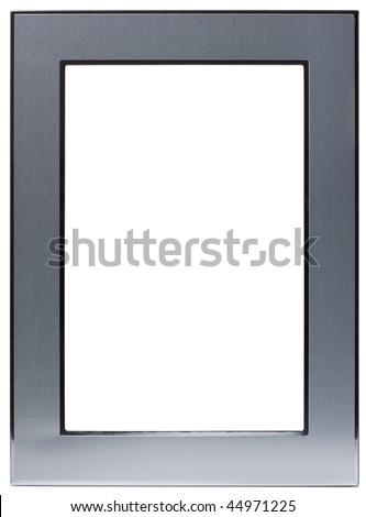 Metal photo frame isolated on the white background