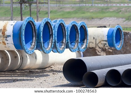 Metal pipe for water city supply