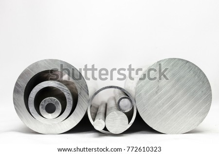 Metal pipelines profile on white background #772610323