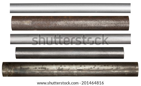Metal pipes, isolated