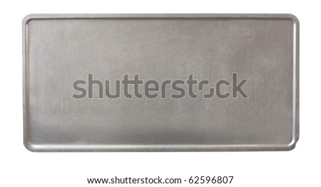 metal plate - back of license plate - brushed metal - no holes