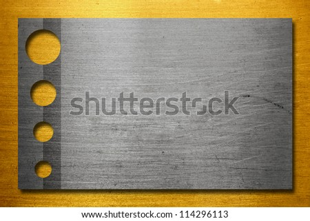 Metal plate design - golden and silver background Foto stock ©