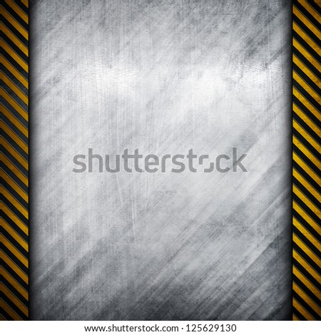 metal plate with attention stripes