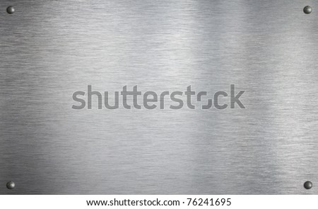 Metal plate with four rivets