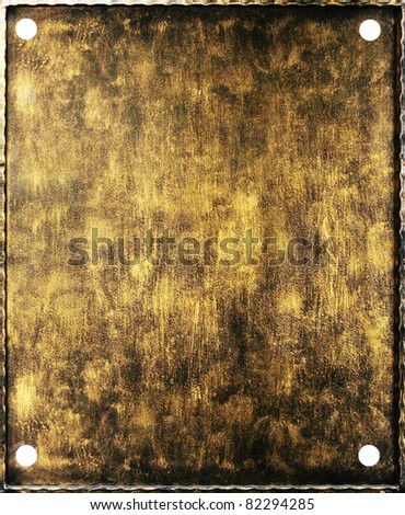 Metal plate with rust texture dark and with scratches