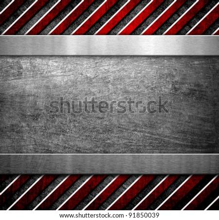 metal plate with warning stripe