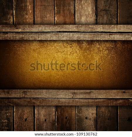 metal plate with wood frame