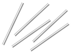 Metal poles isolated against a white background