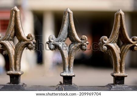 Metal railing detail #209969704