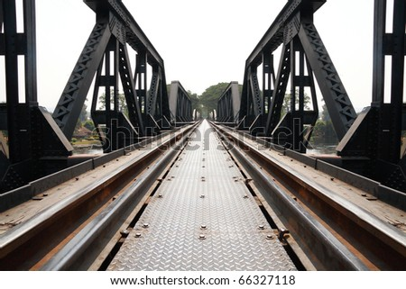Metal railway bridge