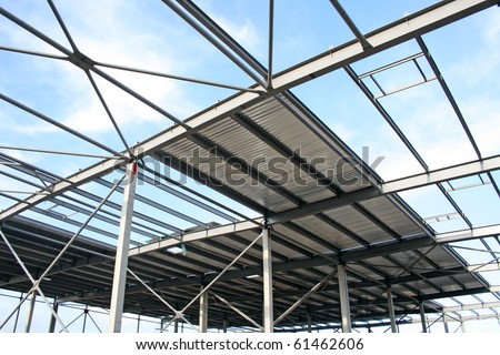 Glass And Galvanised Poles For Roof