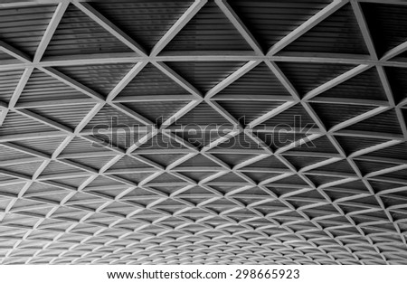 metal roof structure of modern...
