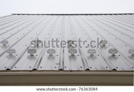 Metal roof metal roof ice stops