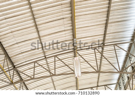 metal roofing construction of modern building complex #710132890