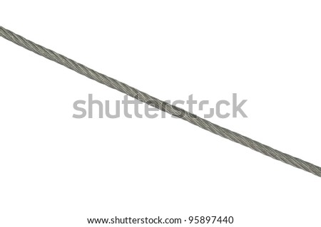metal rope on white background