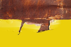 Metal Rust Background Yellow. old metal iron rust texture