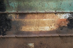 Metal Rusted color old