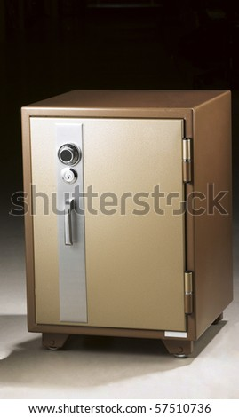 Metal Safe on a white background- with precise clipping path work.