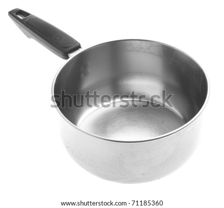 metal saucepan isolated on a white background