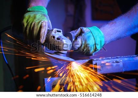 metal sawing close up #516614248