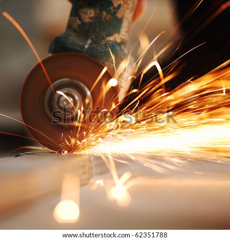 metal sawing close up #62351788