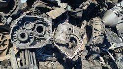 metal scraps, car engine scraps.