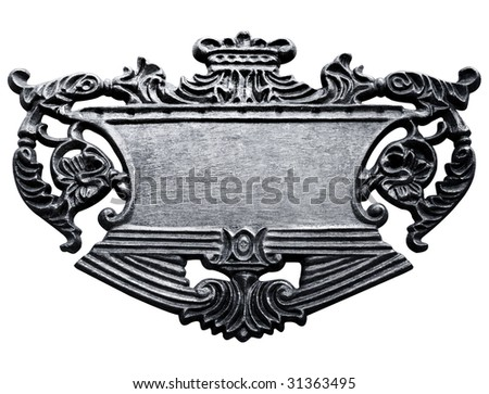 metal sign isolated with clipping path