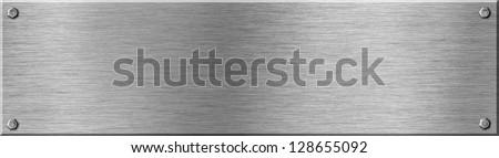 metal signboard texture with screws
