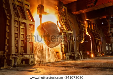 Metal smelting furnace in steel mills #341073080