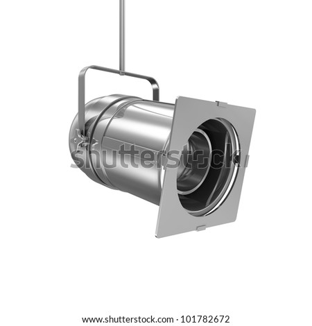 Metal Spotlight isolated on white background