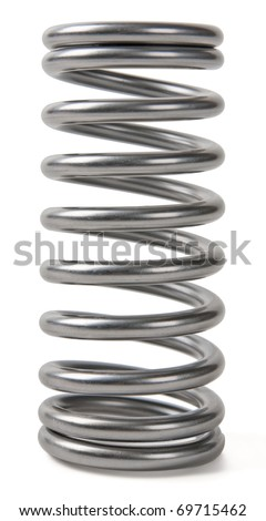 Metal spring isolated on white