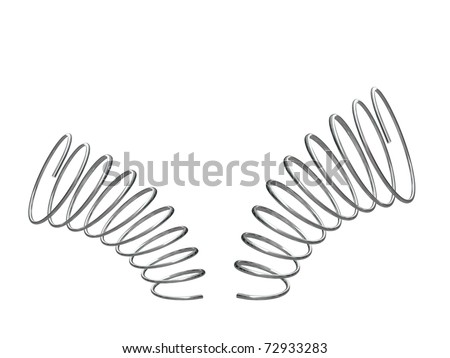 metal springs isolated on white background