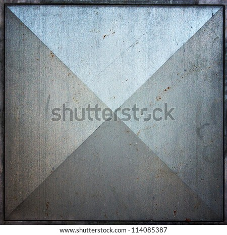 Metal square tile, texture background