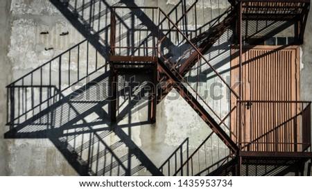 Metal stairs is emergency stairs